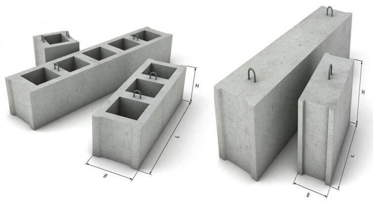 Фундамент из заводских блоков фбс