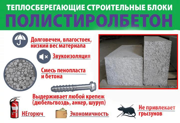 Полистиролбетонные блоки плюсы и минусы
