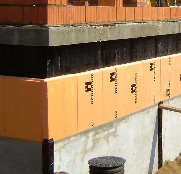 Гидроизоляция фундамента, подвала, стен