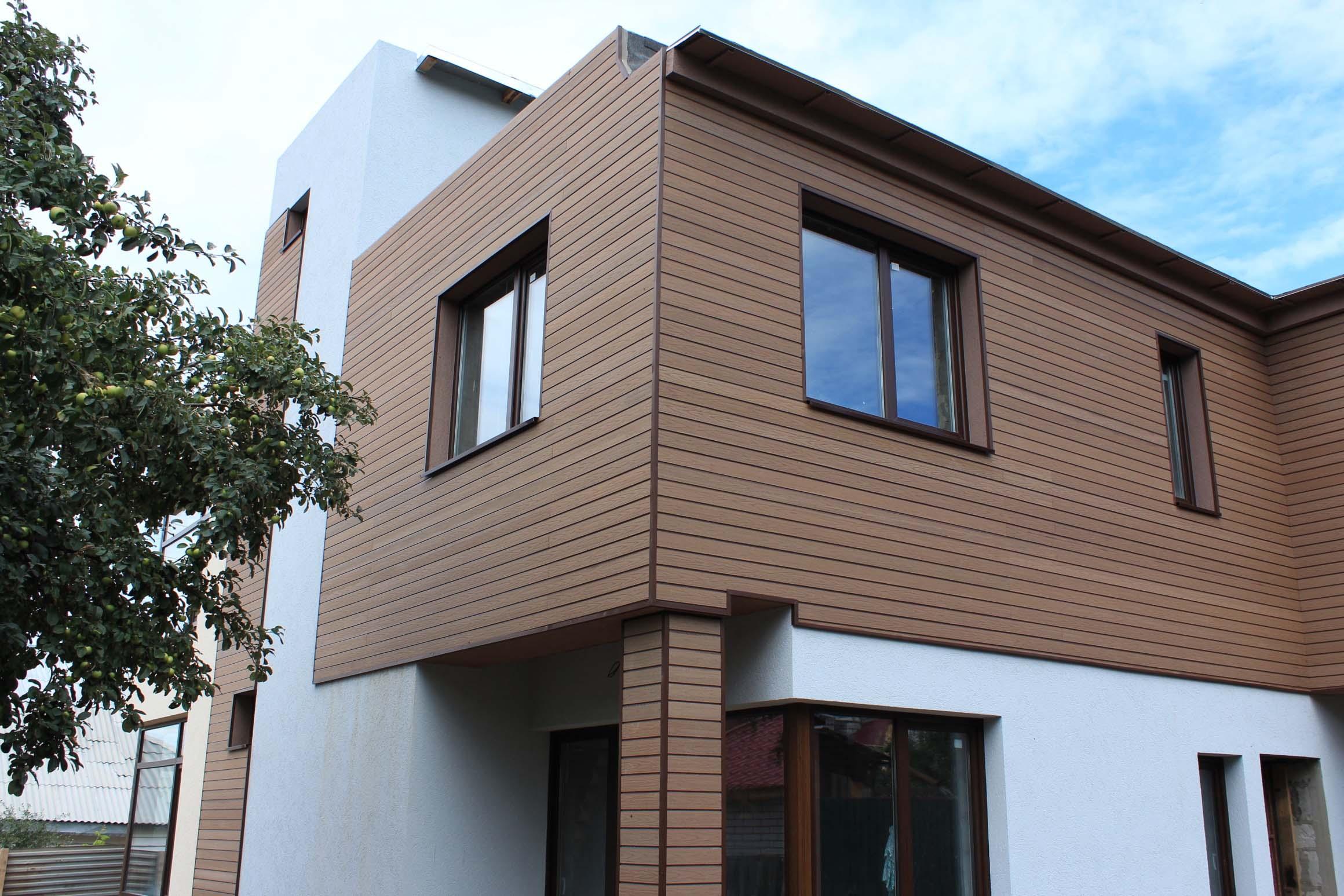 Фасадная доска (34 фото): окрашенная термодоска из дпк для фасада и планкинг для наружной отделки