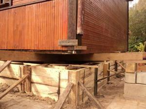 Ремонт фундамента деревянного дома: цена и виды работ