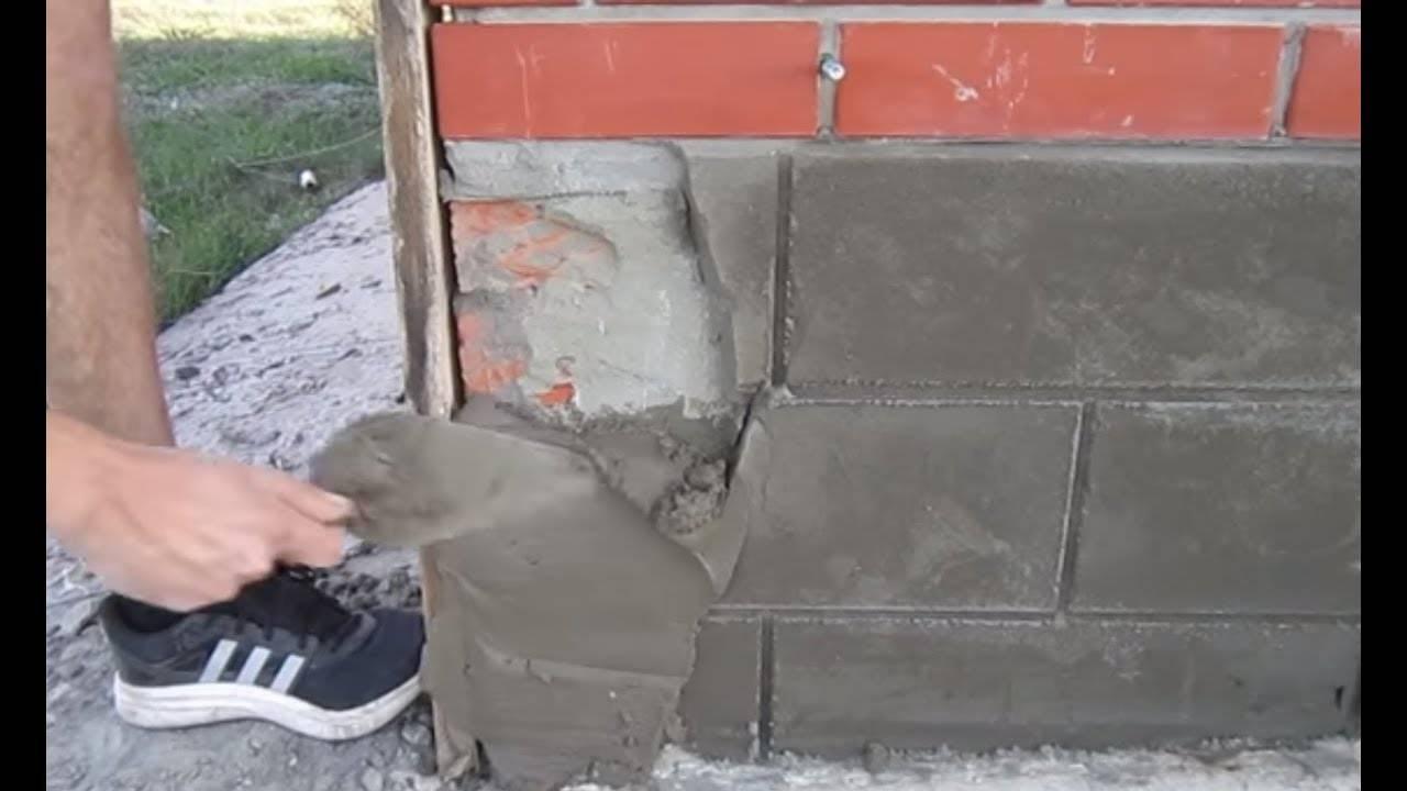 Штукатурим фундамент дома своими руками