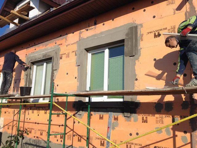 Штукатурка фасада по пеноплексу: подробная инструкция