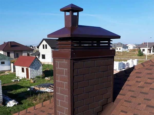 Колпак на дымоход: фото, видео, как выбрать дымник на трубу дымохода