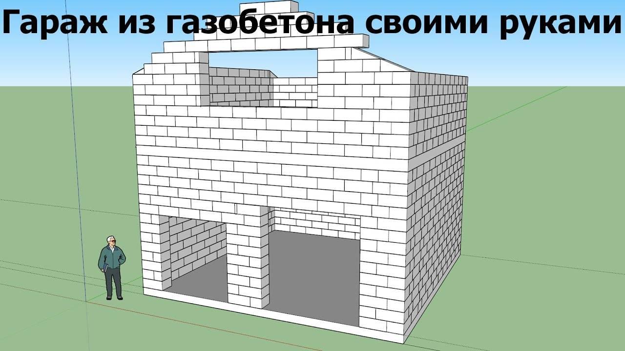 Как построить гараж из пеноблоков: фото, советы, инструкции