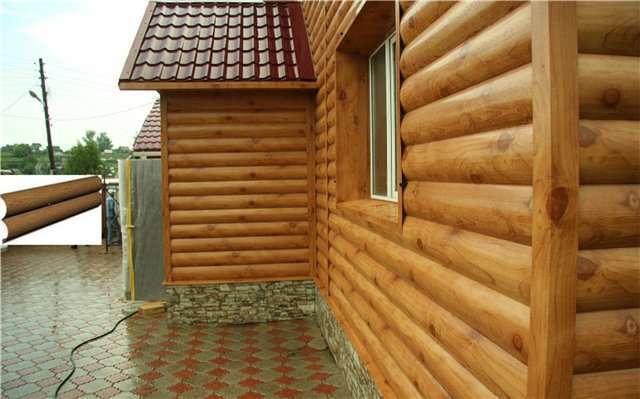 Сайдинг блок-хаус (46 фото): металлический и акриловый сайдинг под бревно для наружной отделки дома, цвета золотой и мореный дуб