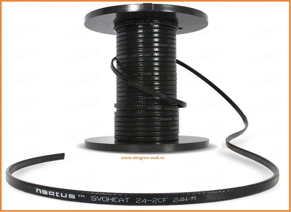 Греющий кабель для водостока и крыши: виды, конструкция, устройство, монтаж