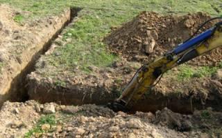 Как происходит копка траншеи экскаватором под фундамент?
