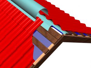 Конек для металлочерепицы: основные типы, монтаж