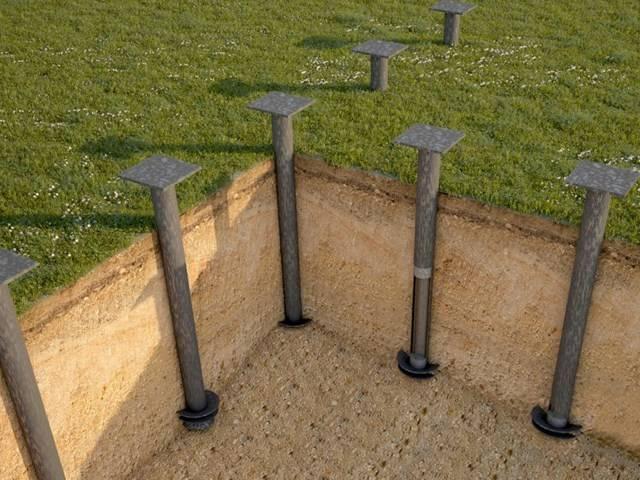Основные характеристики бетонных винтовых свай для фундамента