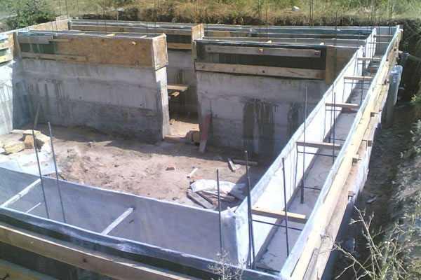 Гидроизоляция фундаментов и стен подвала подземной части здания