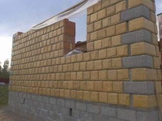 Керамзитобетонные блоки с облицовкой - мега дом