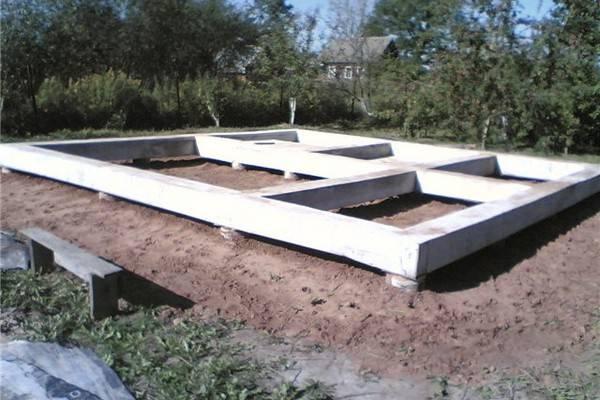 Столбчатый фундамент с ростверком (свайно-ростверковый).