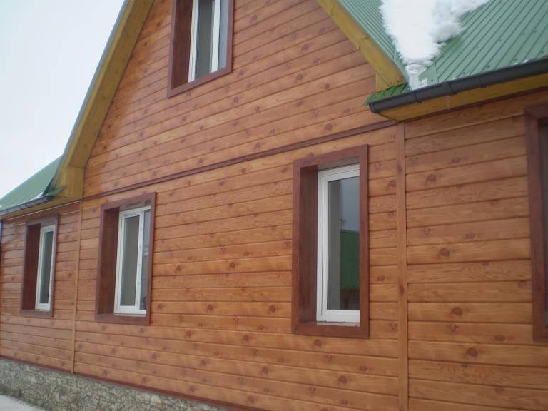 Сайдинг имитация бруса: фото домов с металлическим, l брус, под бревно, под доску и под сруб сайдингом