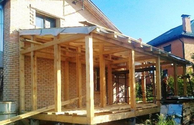 Односкатная крыша пристройки к дому своими руками - клуб мастеров