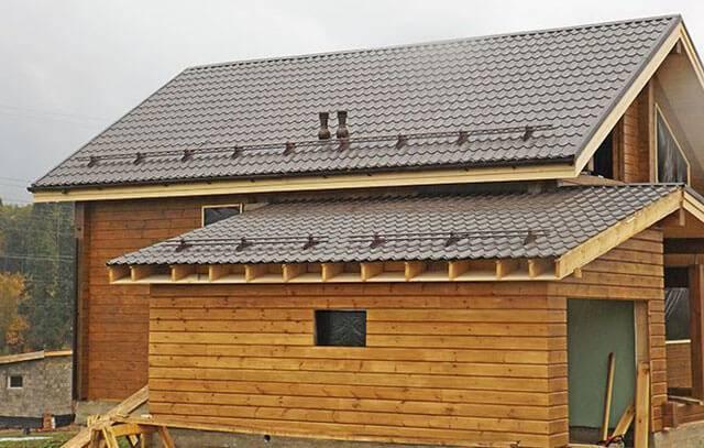 Советы по возведению односкатной крыши для пристройки к дому