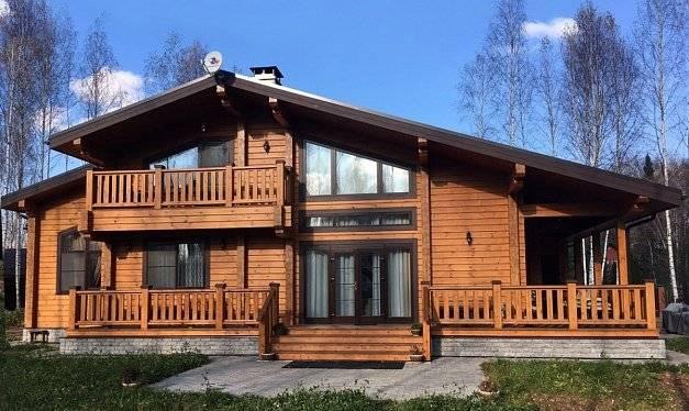 Современные дома из клееного бруса, проектирование и этапы строительства