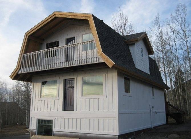 Проекты мансардных крыш частных домов, а так же фото и чертежи одноэтажных домов с ломаной крышей
