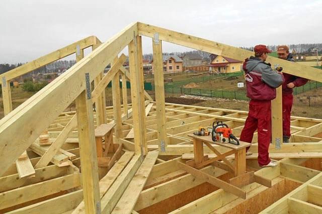 Четырехскатная крыша: чертеж, проект, схема и план стропил вальмовой крыши