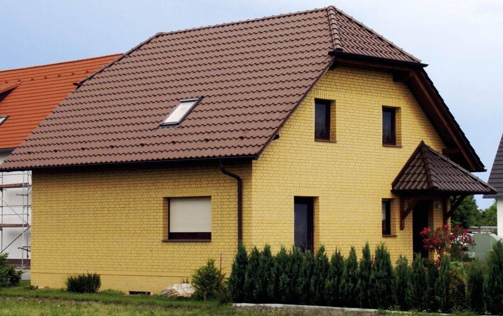 Плюсы и минусы желтого облицовочного кирпича + фото домов цвета персик и абрикос