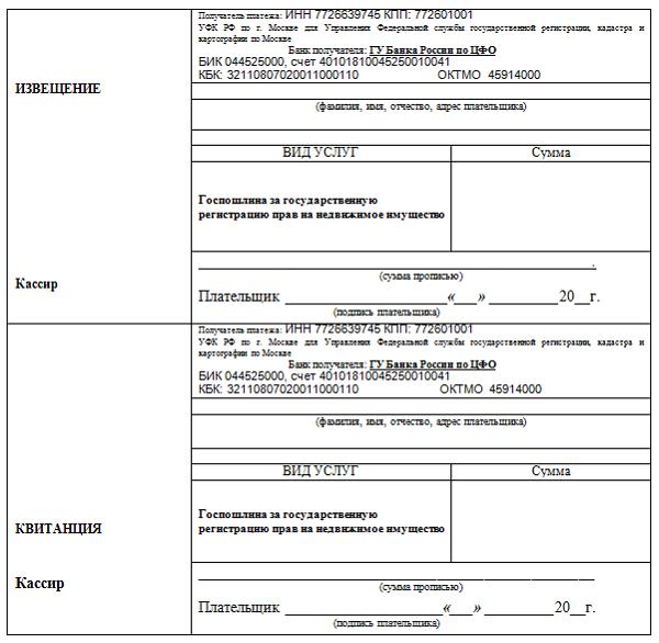 Размер госпошлины за аренду земельного участка и регистрацию договора в росреестре, а также сроки оформления документа