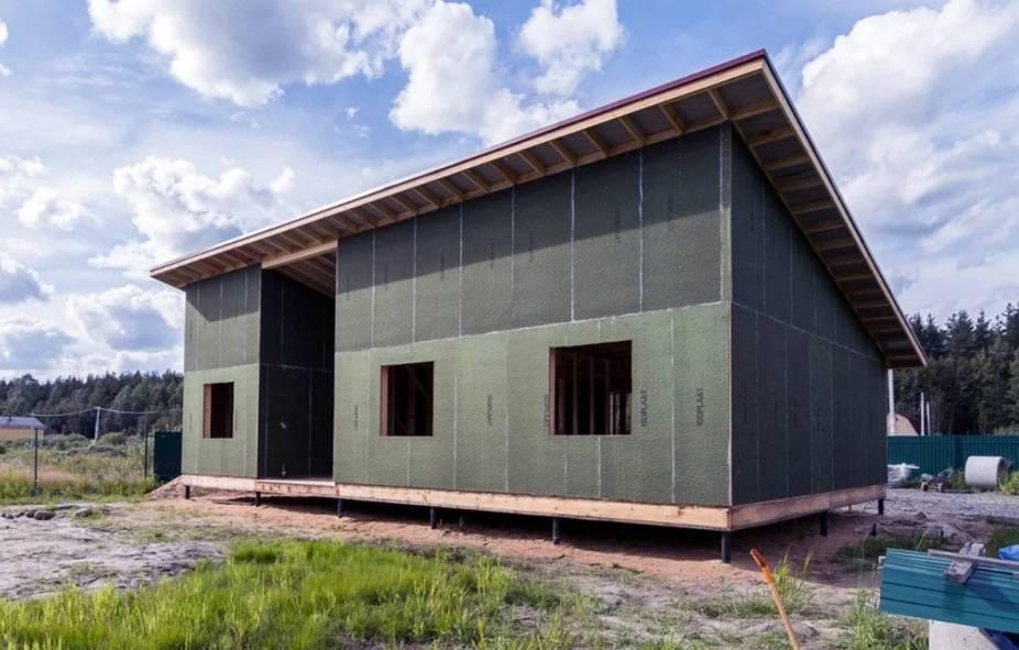 Одноэтажный дом с односкатной крышей: фото дизайнерских решений