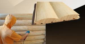 Технология покраски имитации бруса снаружи дома + особенности крашенной доски в заводских условиях