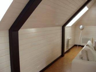 Тонкости процесса внутренней обшивки дома имитацией бруса