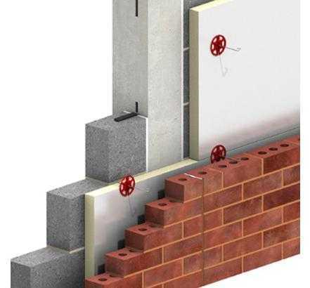 Применение гибких связей для газобетонной стены и облицовочного кирпича