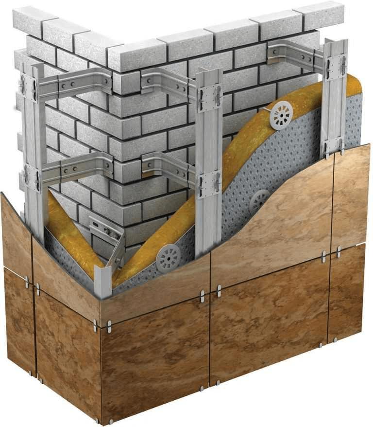 Правильная технология вентилируемого фасада — рекомендации мастеров