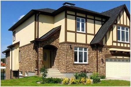 Декоративная штукатурка фасада дома: виды из смесей и камня, нанесение раствора на наружные стены зданий и частных построек, технология отделки своими руками, фото
