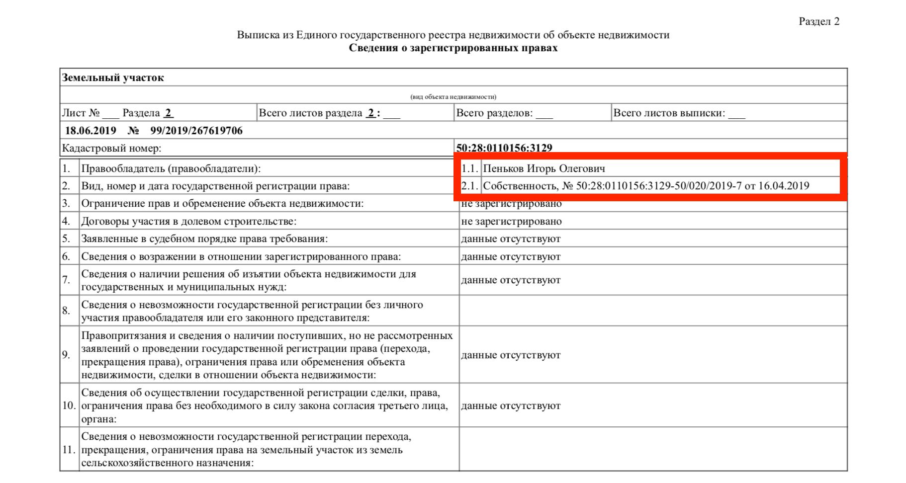 Как узнать кадастровый номер земельного участка по фамилии?