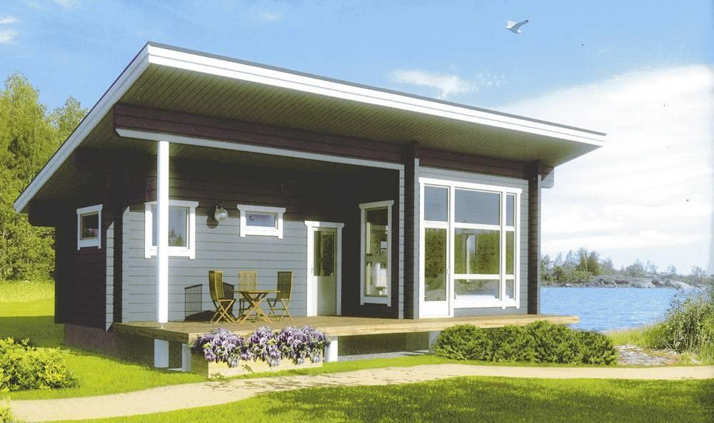 Проект дома с односкатной крышей: варианты