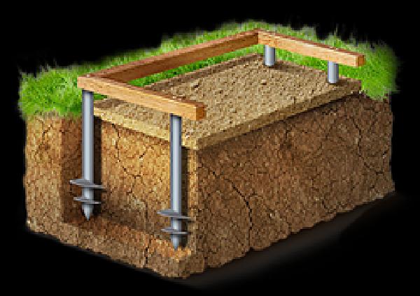 Особенности устройства и постройки свайного фундамента под печь