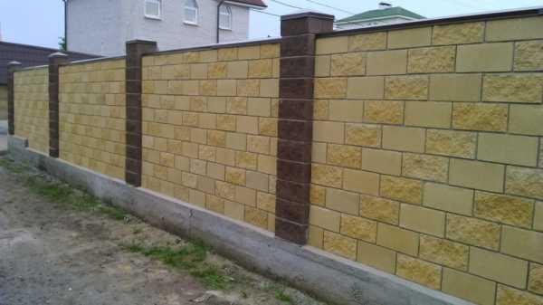 Забор из шлакоблока: характеристики
