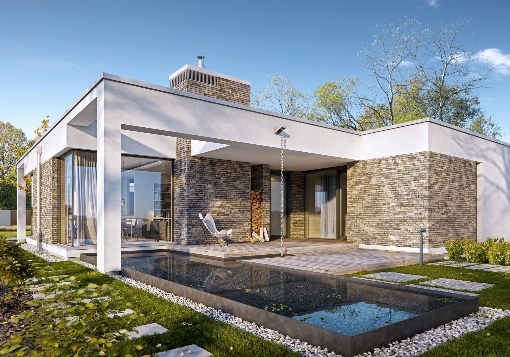 Одноэтажный дом с плоской крышей – преимущества и особенности монтажа