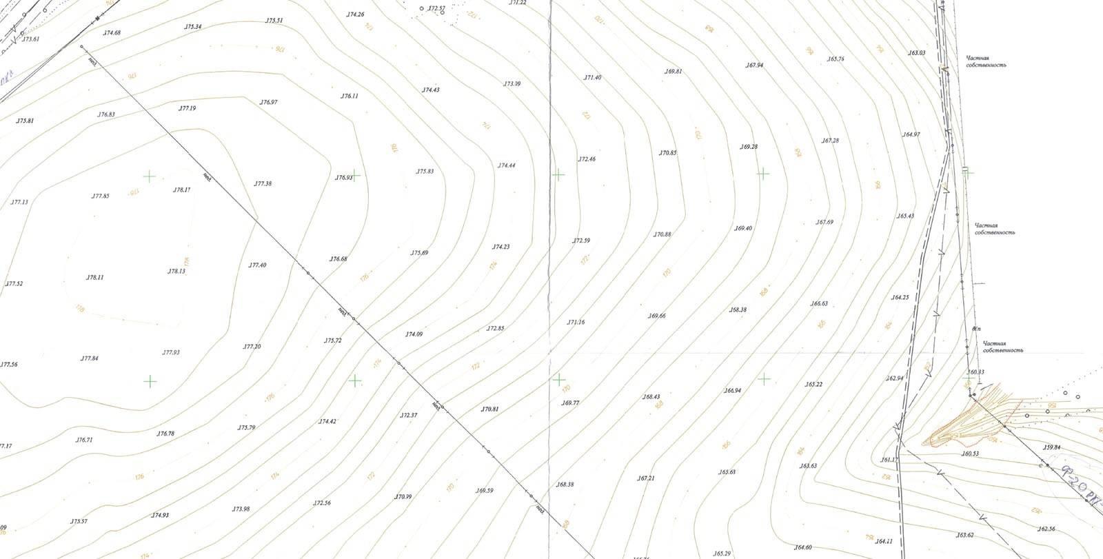 Топографический план земельного участка для роснедра и не только: как получить по кадастровому номеру и нет, также карта в масштабе 1:500 с точками водоснабжения