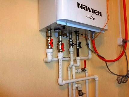 Эксплуатация газового котла navien deluxe: монтаж двухконтурных настенных моделей своими руками + отзывы владельцев