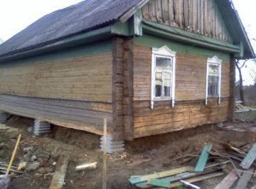 Ремонт фундамента старого деревянного дома своими руками - инструкция, схемы