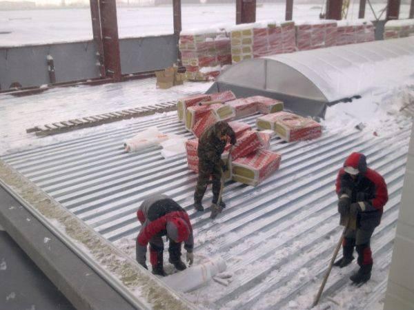 Ремонт крыши гаража зимой - кровля и крыша
