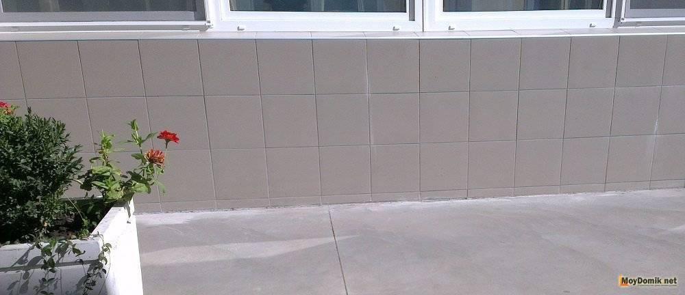 Отмостка из бетона толщина