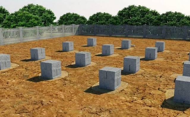 Фундамент на столбах из бетона: особенности, виды и строительство