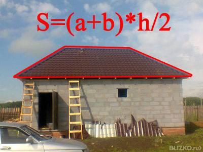 Как рассчитать площадь крыши дома?
