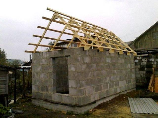 Баня из шлакоблока своими руками: как построить, постройка, видео-инструкция по строительству, фото