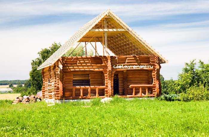 Построить дом из оцилиндрованного бревна: инструкция