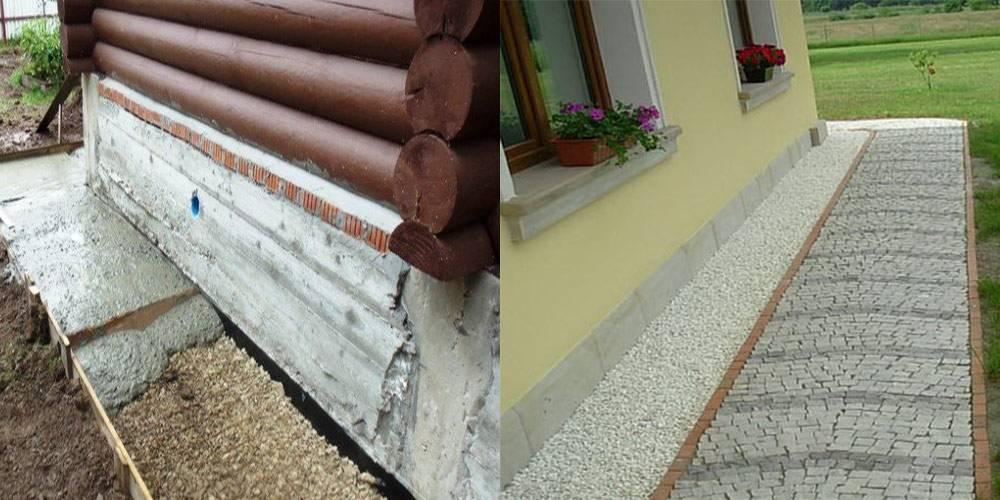 Ремонт отмостки вокруг дома своими руками: что делать, если конструкция отошла от цоколя, просела, как исправить уклон, выровнять, отремонтировать без демонтажа старой?