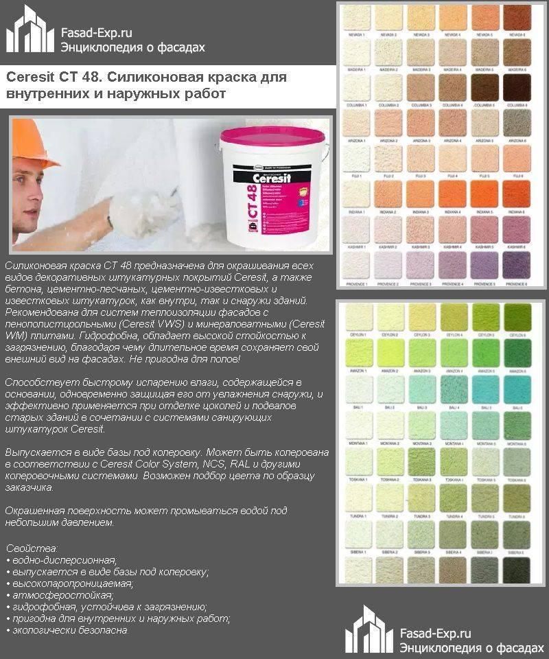 Виды и особенности применения краски текс