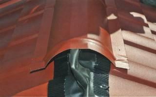 Уплотнитель под конек для металлочерепицы - устройство, монтаж и установка, примеры на видео и фото