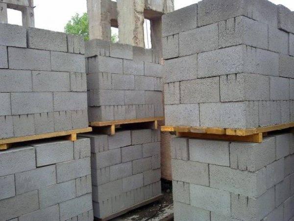 Расчет количества шлакоблоков на 1 м2 стены