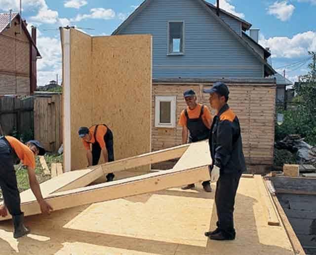 Этапы строительства гаража из сип-панелей своими руками: пошаговая инструкция, чертежи и фото